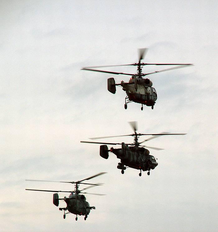 Боевые вертолёты Камова ВМФ России.