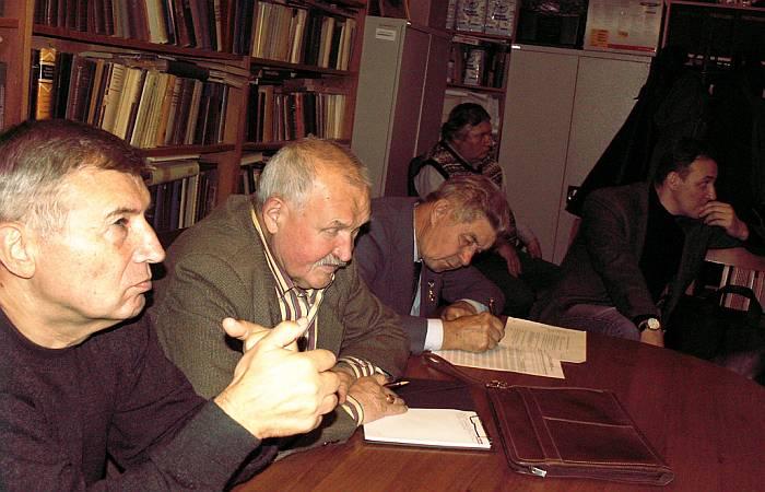 Члены Секции (слева-направо): С.В. Пашков, В.С. Суслов, Г.А. Попов, В.А. Фёдоров, А.А. Божко. Фото В.В. Лебедева.