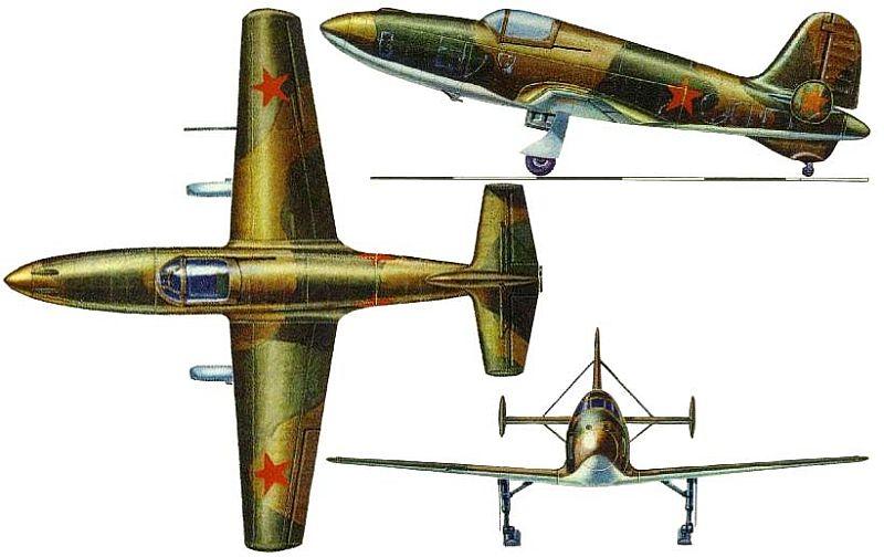 Проекции самолёта БИ
