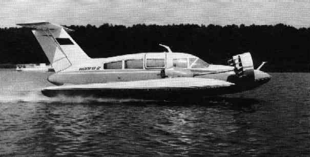 Пассажирский экраноплан ''Волга-2'' на взлёте.