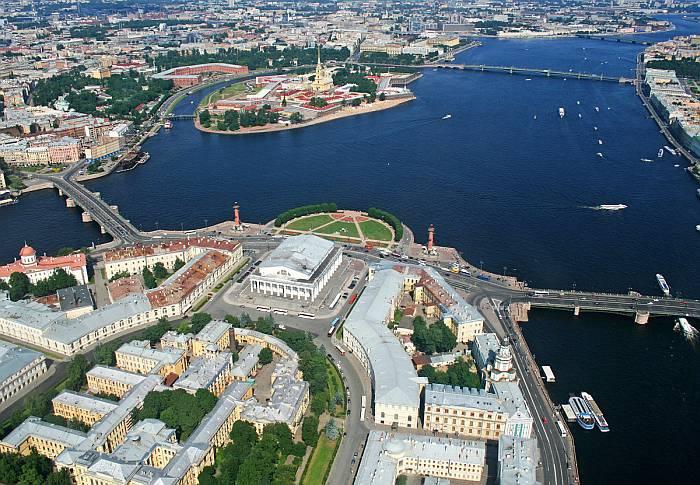 С.-Петербург с высоты птичьего полёта.