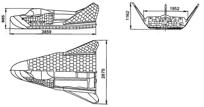 Проекции КА БОР-4. Рис. из интернета