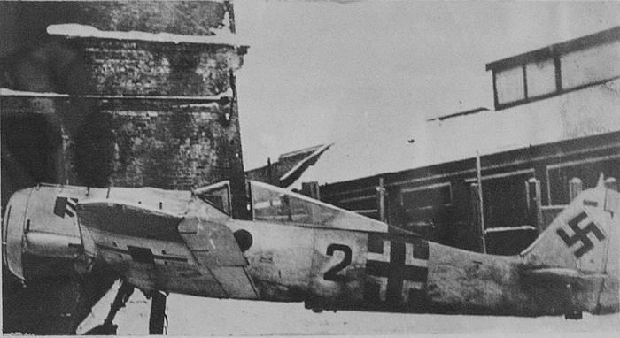 Трофейный Фокке-Вульф FW-190, сбитый над Ладогой