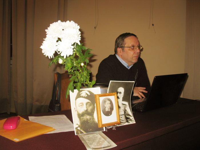 Фото В.В. Лебедева на заседании Воздухоплавательной комиссии РГО