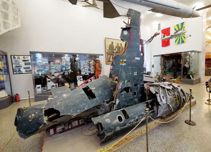 Остатки U-2 в современной экспозиции Центрального музея Вооружённых сил России (Москва).