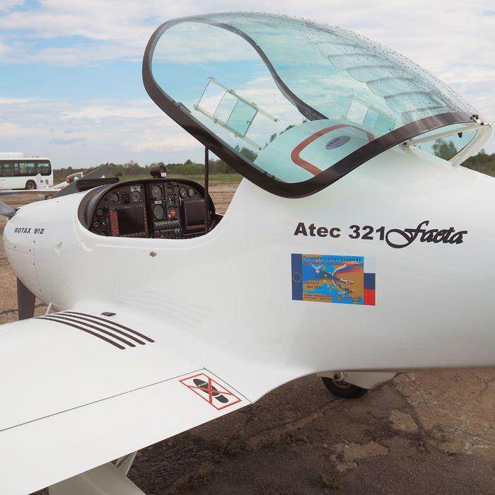 Углепластиковый скоростной СЛА Faeta-321 от чешского производителя Atec Aircraft обладает прекрасными лётными характеристиками. Фото от В.Г. Федченко.