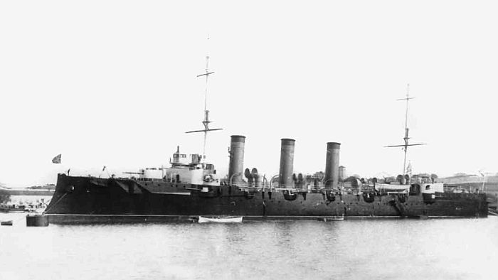 """Крейсер 1-го ранга """"Очаков"""" вскоре после завершения строительства. Фото предоставлено Л.А. Кузнецовым."""