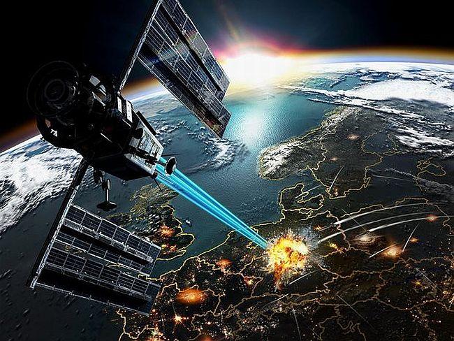 Картинка лазера в космосе