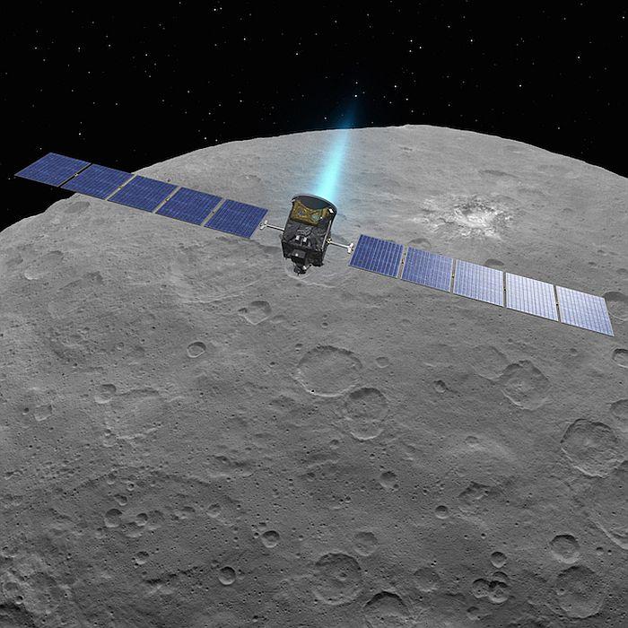 зонд Dawn на орбите вокруг карликовой планеты Церера