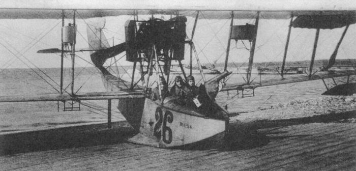 Летающая лодка М-9 Балтийского флота на берегу