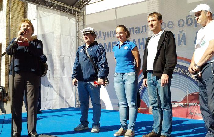М.Ф. Рябыкина представляет команду воздухоплавателей Ленинградской области