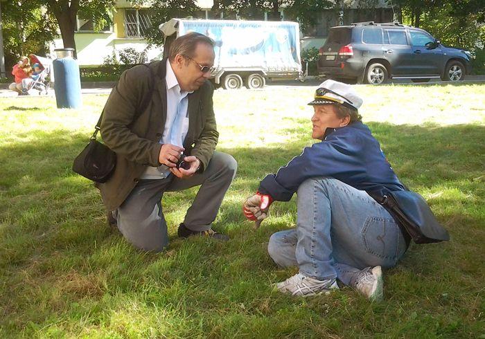 Виталий Владиславович Лебедев (слева) и вице-президент Федерации воздухоплавательного спорта Ленинградской обл. Валерий Фёдорович Васёв