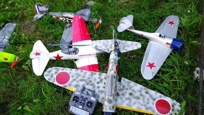 Модели на любой вкус были представлены публике чемпионами Европы 2016-го года по воздушному бою радиоуправляемых авиамоделей из нашего города на Неве