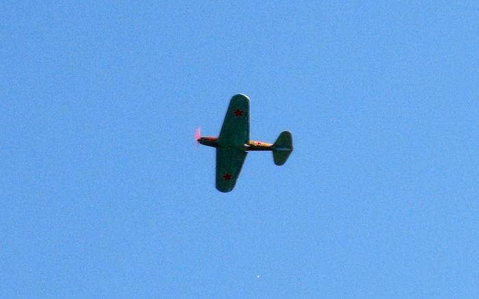 Полёт модели штурмовика Ил-2