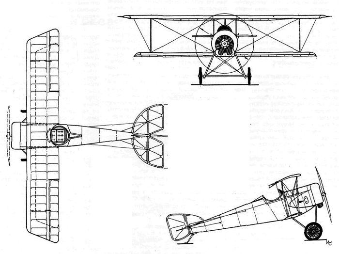 Истребитель И.И. Сикорского С-20, 1917 г.