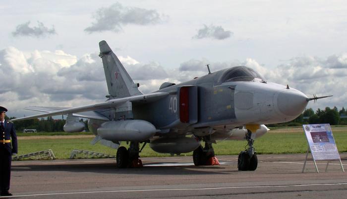 Самолёт-разведчик Су-24МР. Фото С.Н. Ганина.