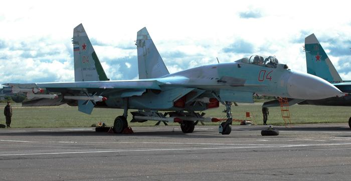 Самолёт-перехватчик для завоевания превосходства в воздухе Су-27СМ. Фото С.Н. Ганина.