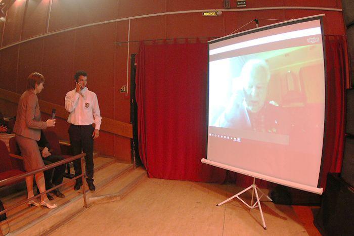 По скайпу состоялась on-line конференция с лётчиком-космонавтом СССР, дважды Героем Советского Союза Г.М. Гречко