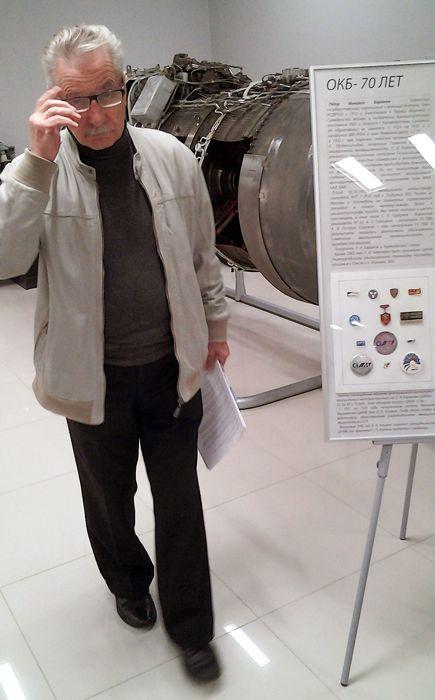 Юрий Николаевич Колесников фото с доклада в музее Климова