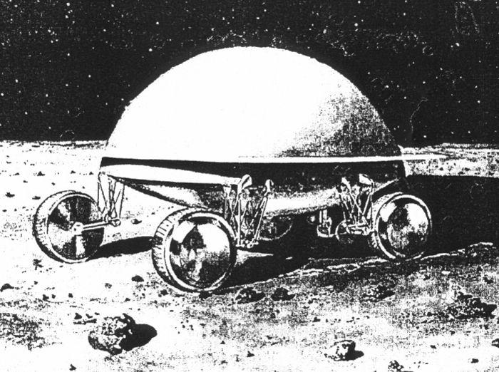 Первые рисунки русского лунохода