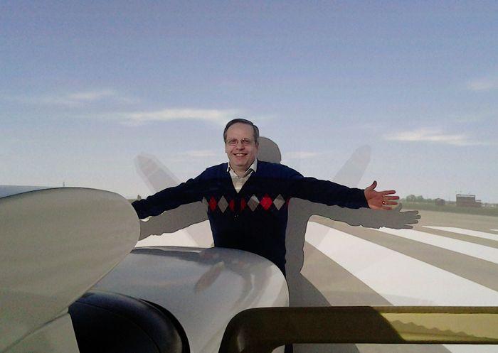полёт на тренажёре самолёта Cessna-172