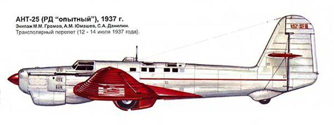 АНТ-25 экипажа Громова