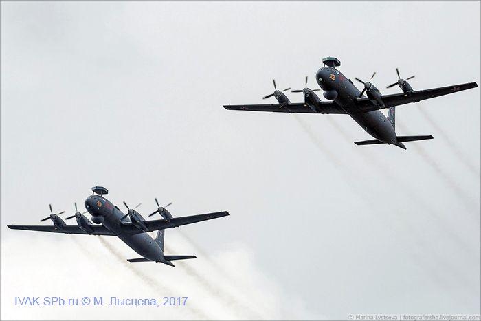Пара Ил-38Н над Невой