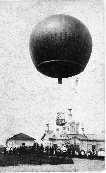 Подъём воздушного шара рядом с церковью Св. Илии Пророка в УВП в Ильин день.