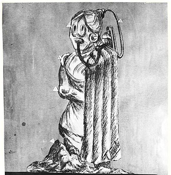 Рисунок Г.А. Полевого – скафандр системы Полевого