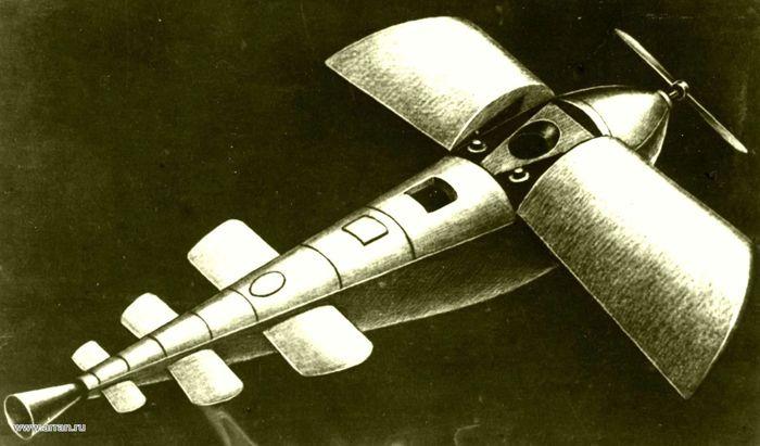 Модель межпланетного корабля Ф.А. Цандера