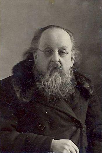 Картинка К.Э. Циолковский в возрасте 70 лет.