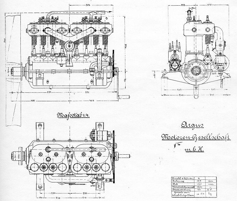Общие виды мотора «Аргус»