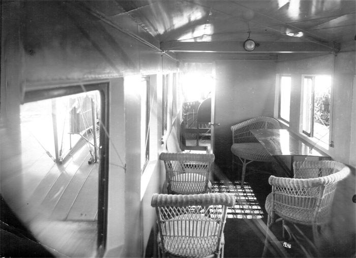 Фото: Пассажирский салон самолёта «Илья Муромец»