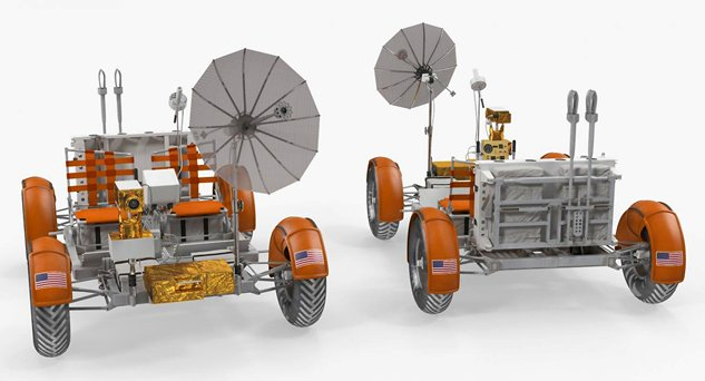 Lunar Roving Vehicle миссии «Apollo-15», 1971 г.