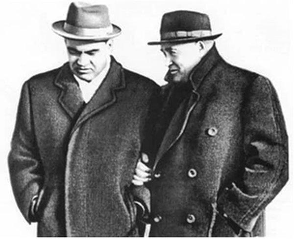 Президент АН СССР М.В. Келдыш (1911-1978) и Главный конструктор ОКБ-1С.П. Королёв (1907-1966)